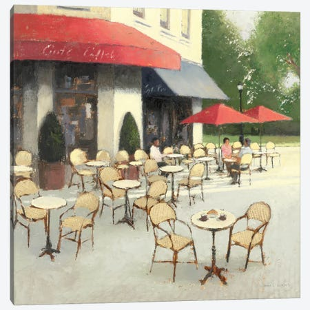 Cafe du Matin II Canvas Print #WAC1726} by James Wiens Canvas Print