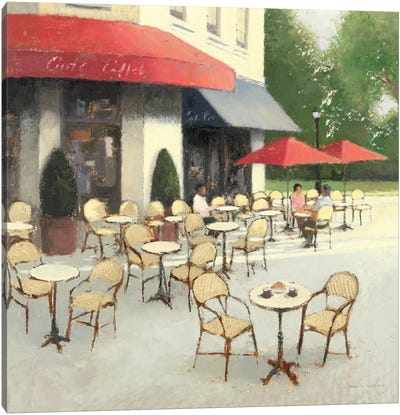 Cafe du Matin II Canvas Art Print