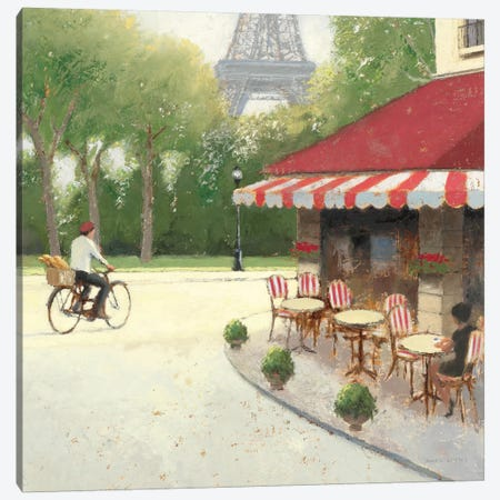 Cafe du Matin III Canvas Print #WAC1727} by James Wiens Art Print