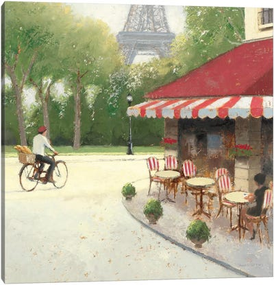 Cafe du Matin III Canvas Art Print