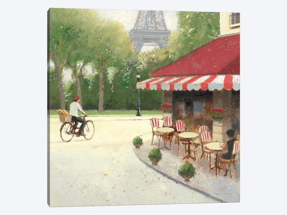 Cafe du Matin III by James Wiens 1-piece Canvas Art