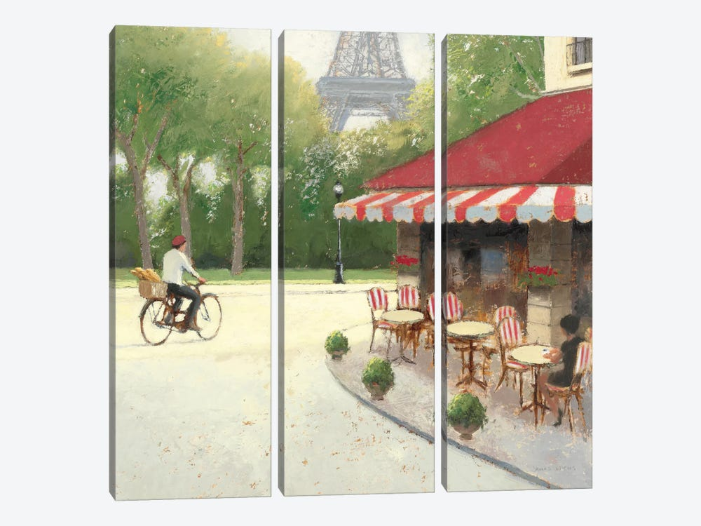 Cafe du Matin III by James Wiens 3-piece Canvas Art