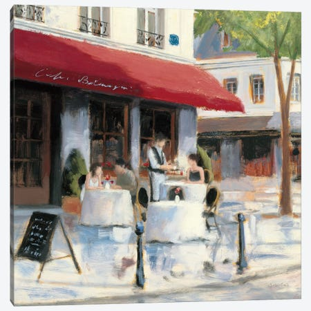 Relaxing at the Cafe I Canvas Print #WAC1728} by James Wiens Canvas Artwork