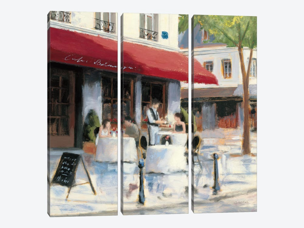 Relaxing at the Cafe I by James Wiens 3-piece Art Print