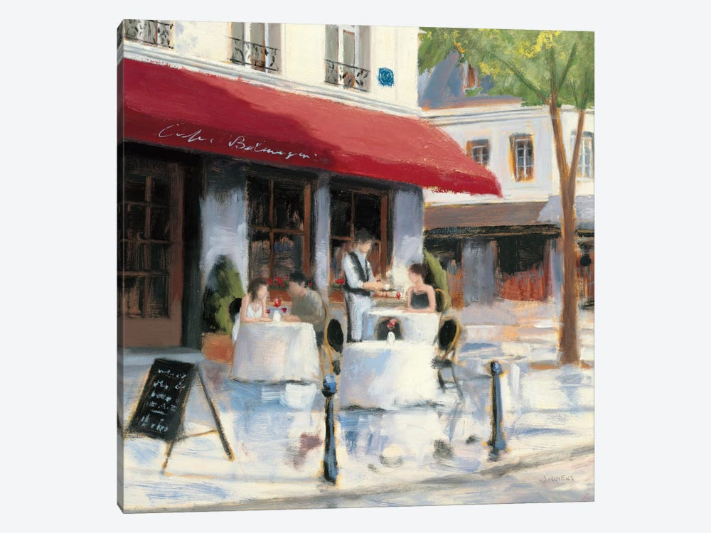 Relaxing at the Cafe I by James Wiens 1-piece Canvas Print
