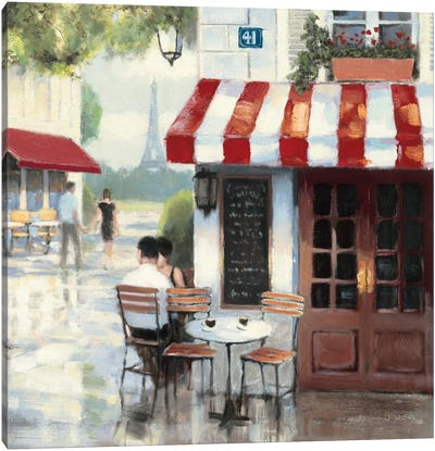 Relaxing at the Cafe II Canvas Art Print