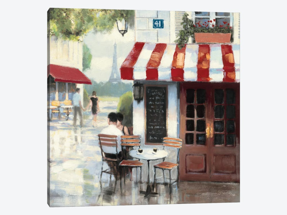 Relaxing at the Cafe II by James Wiens 1-piece Canvas Art