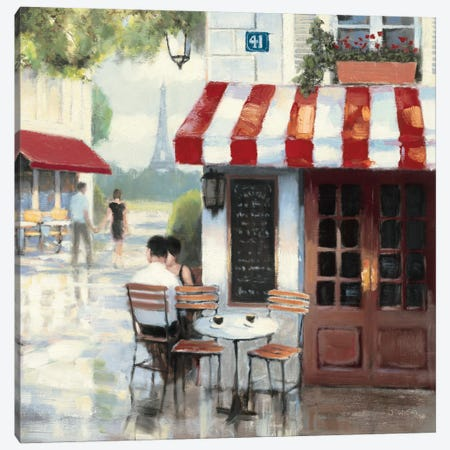 Relaxing at the Cafe II Canvas Print #WAC1729} by James Wiens Canvas Art