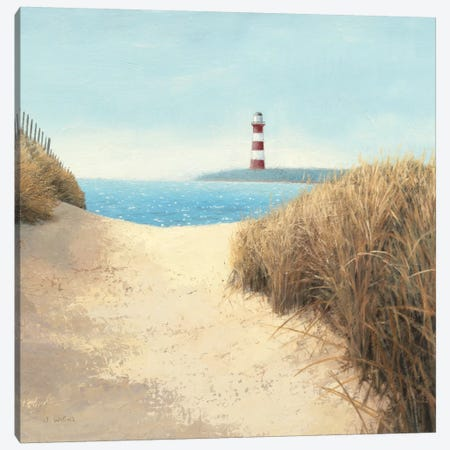 Beach Path Square Canvas Print #WAC1731} by James Wiens Canvas Art Print