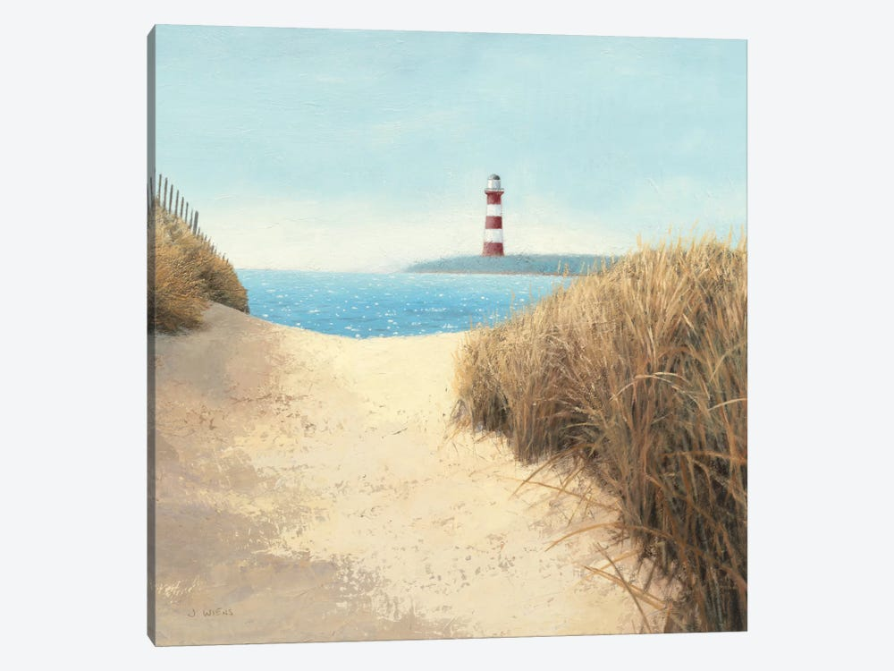 Beach Path Square by James Wiens 1-piece Canvas Print