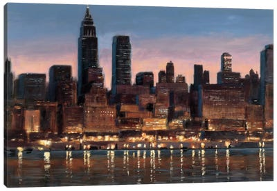 Manhattan Reflection Canvas Art Print