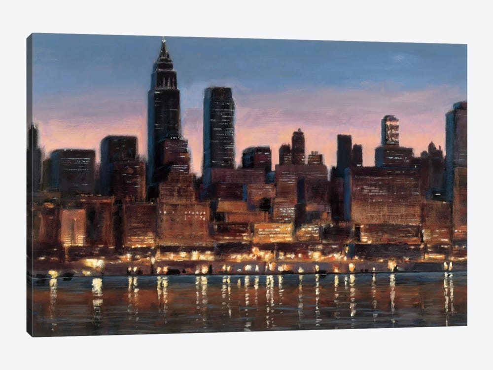 Manhattan Reflection by James Wiens 1-piece Canvas Wall Art