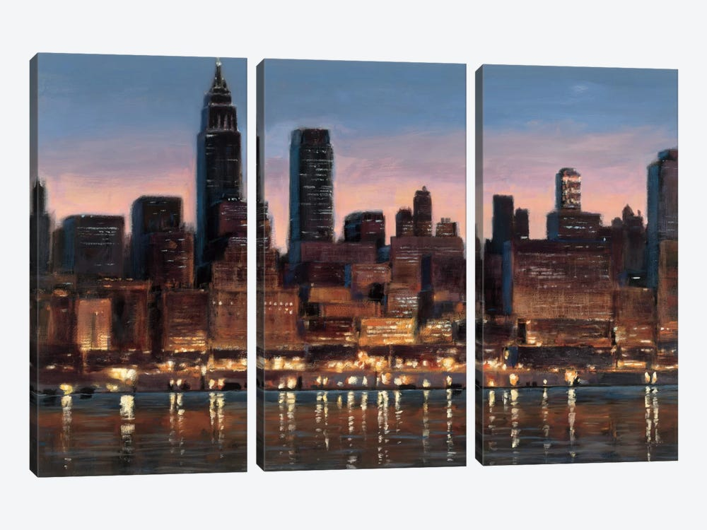 Manhattan Reflection by James Wiens 3-piece Canvas Artwork