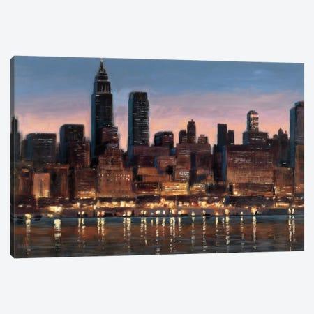 Manhattan Reflection Canvas Print #WAC1738} by James Wiens Canvas Art Print