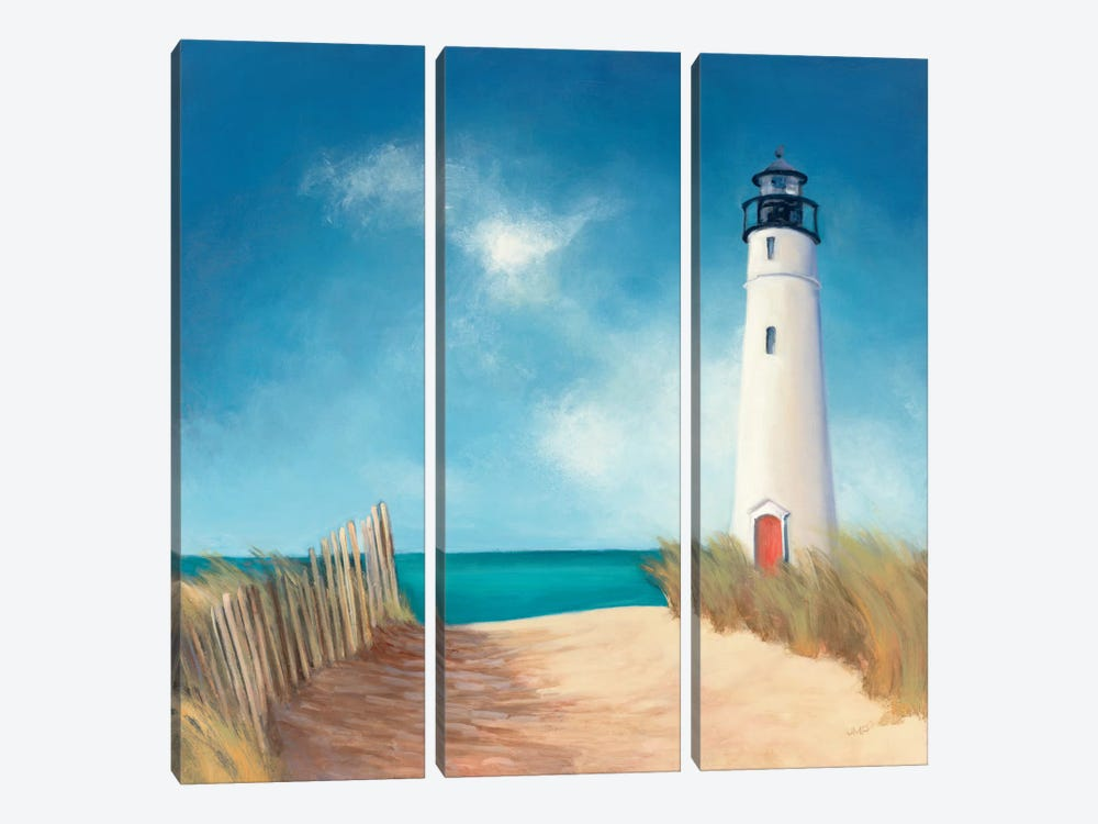 Down the Path by Julia Purinton 3-piece Canvas Print