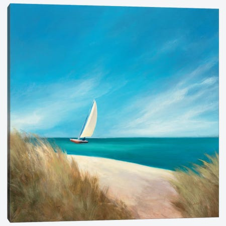 Sunday Sail Canvas Print #WAC1745} by Julia Purinton Canvas Print