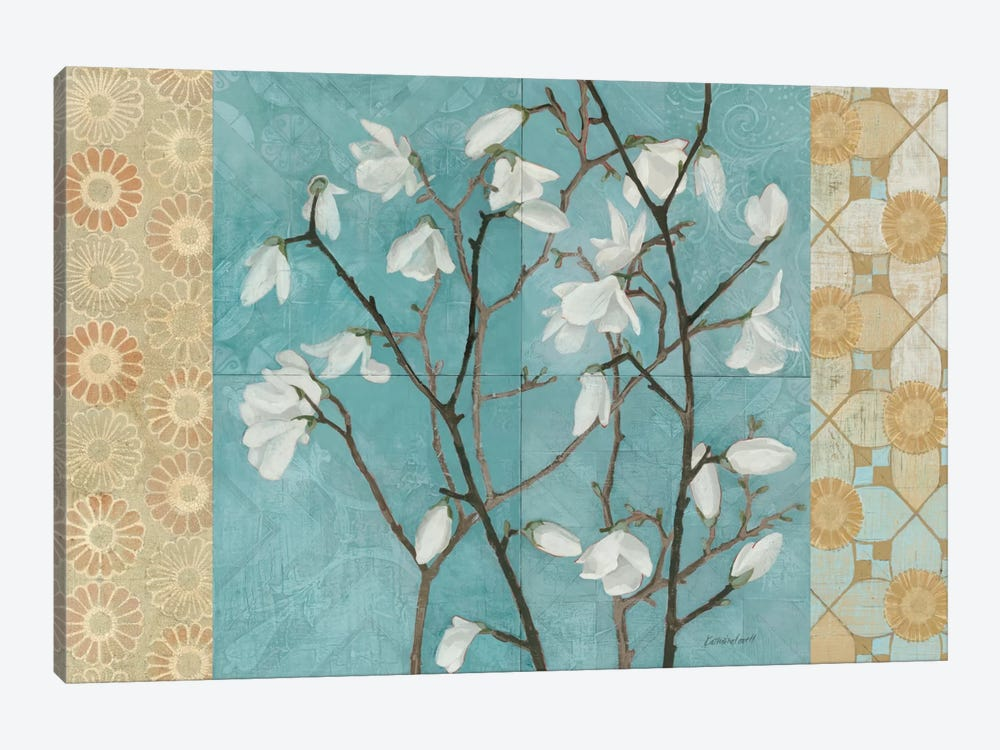 Patterned Magnolia Branch by Kathrine Lovell 1-piece Canvas Art