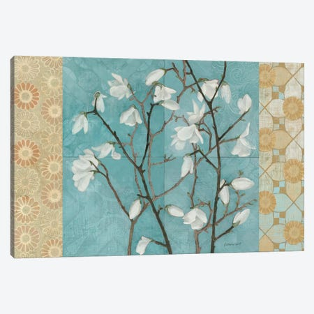 Patterned Magnolia Branch Canvas Print #WAC1756} by Kathrine Lovell Canvas Art