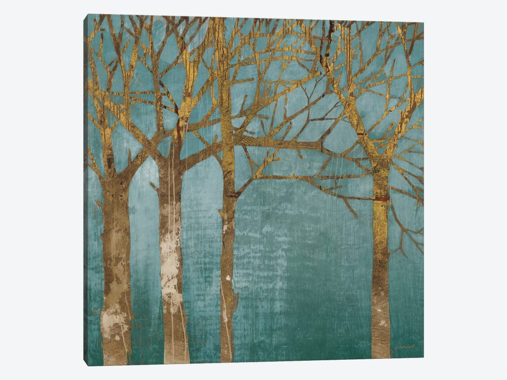 Golden Day Turquoise by Kathrine Lovell 1-piece Canvas Print