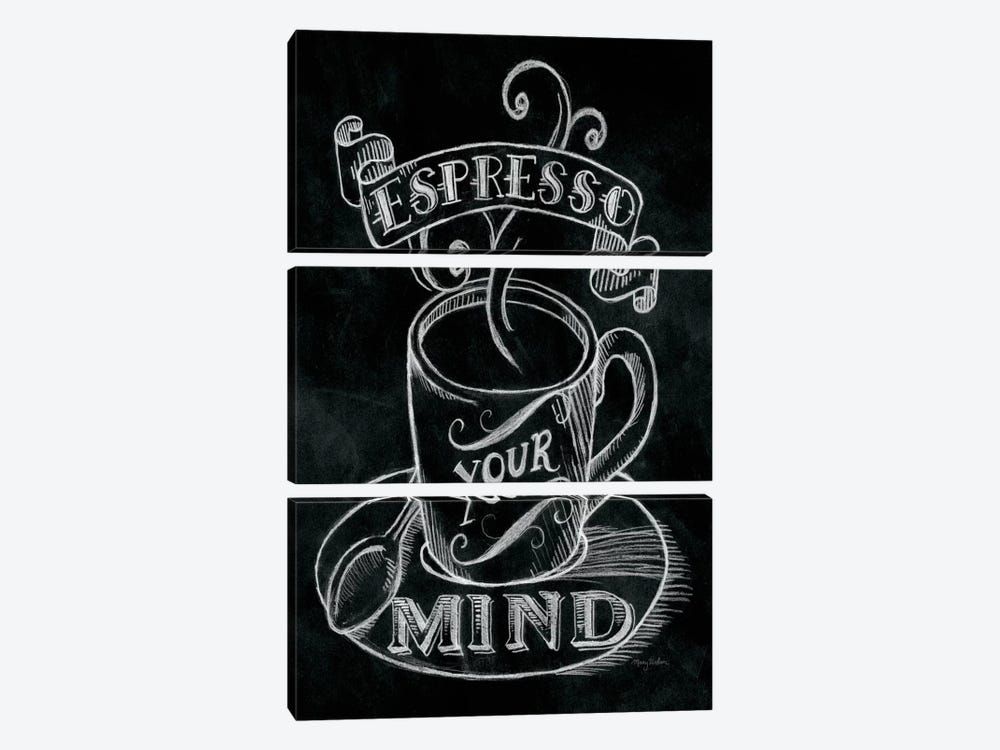 Espresso Your Mind by Mary Urban 3-piece Canvas Art Print