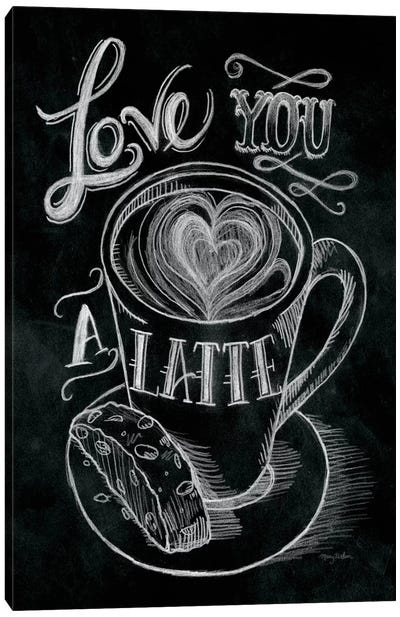 Love You a Latte Canvas Art Print