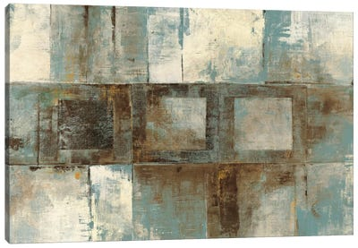 Euclid Ave Variations Blue & Brown Canvas Print #WAC1786
