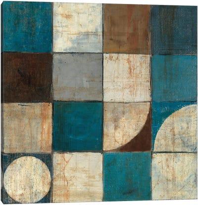 Tango Detail I Blue & Brown Canvas Print #WAC1787