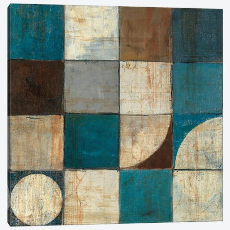 Tango Detail I Blue & Brown Canvas Print #WAC1787} by Mike Schick Art Print