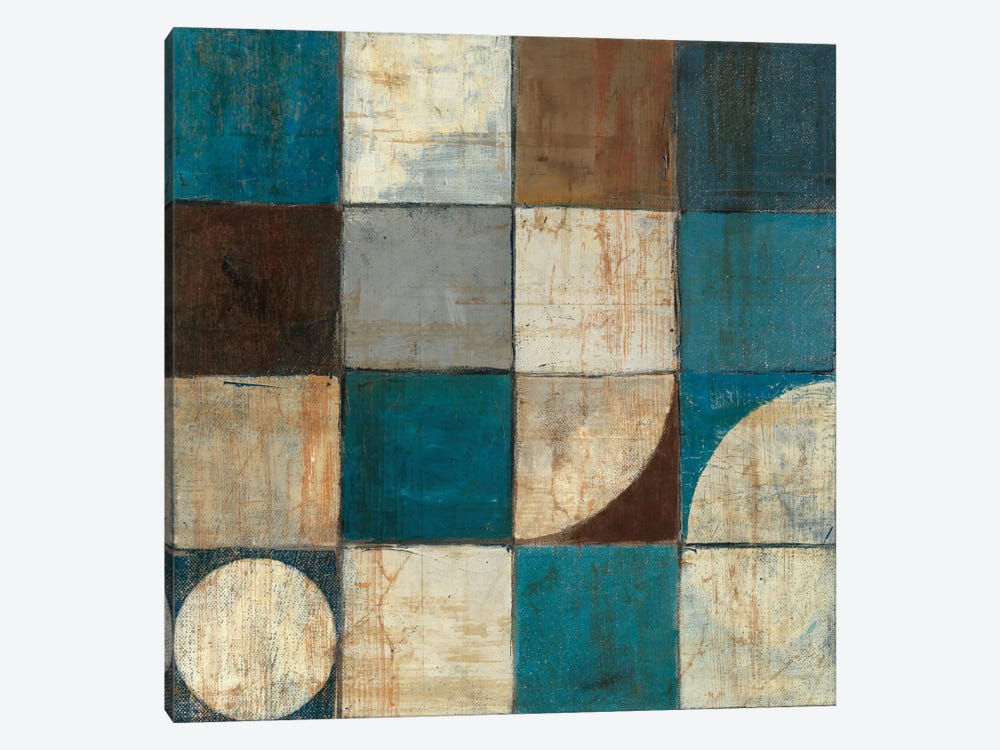 Tango Detail I Blue & Brown by Mike Schick 1-piece Canvas Artwork