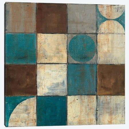 Tango Detail II Blue & Brown Canvas Print #WAC1788} by Mike Schick Canvas Artwork