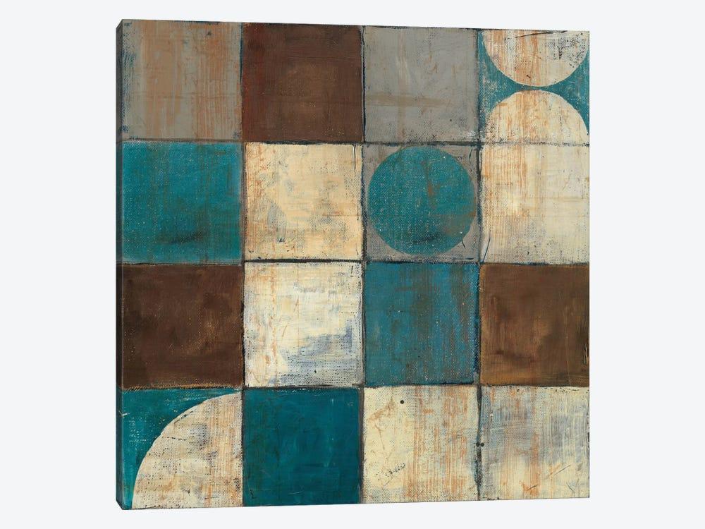 Tango Detail II Blue & Brown by Mike Schick 1-piece Art Print