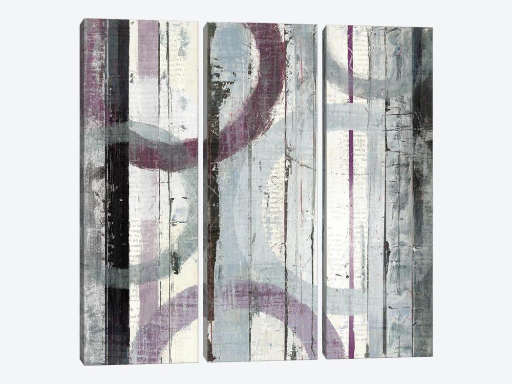 Plum Zephyr I by Mike Schick 3-piece Canvas Artwork
