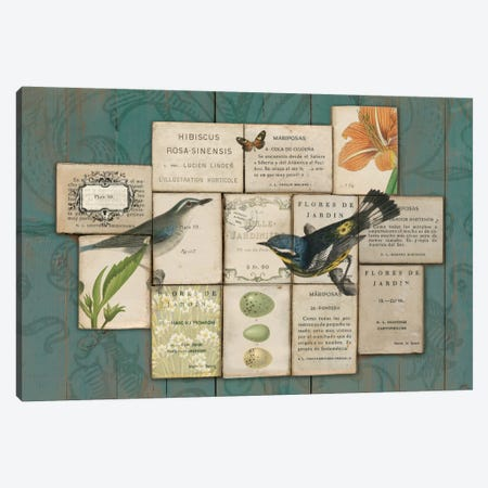 Birds of the Garden Canvas Print #WAC1808} by Sue Schlabach Canvas Art Print