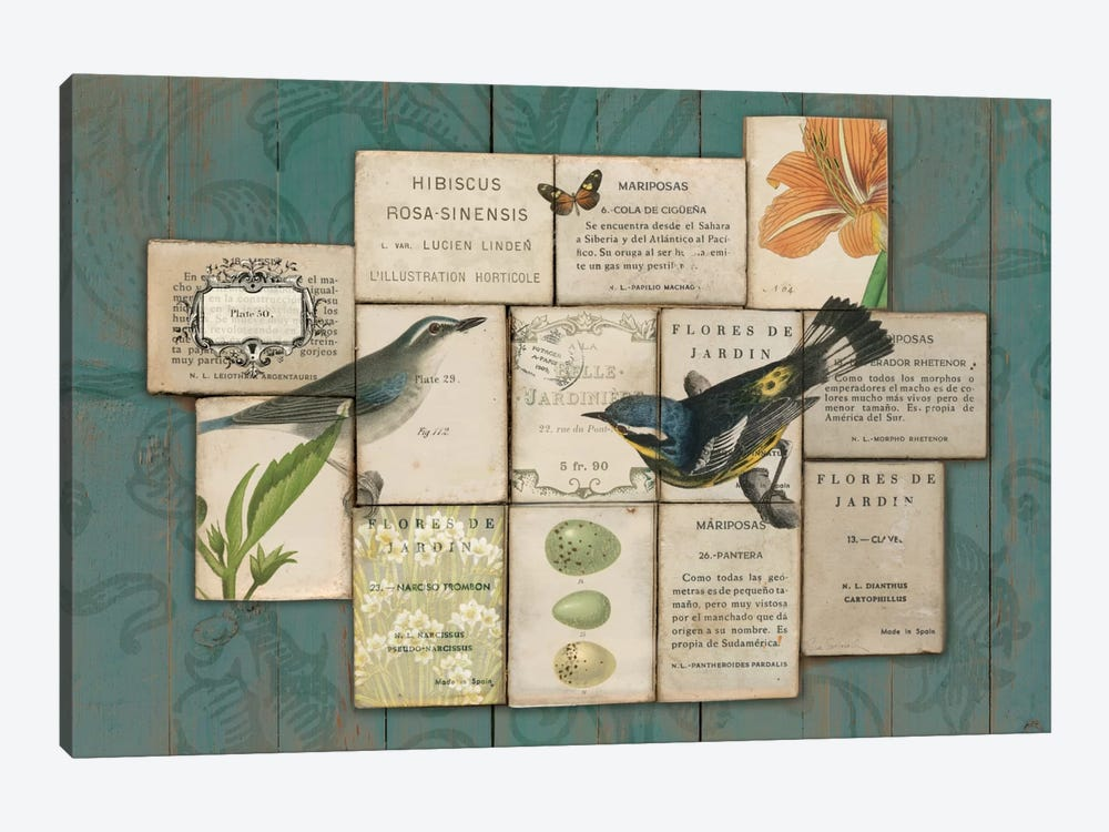 Birds of the Garden by Sue Schlabach 1-piece Art Print