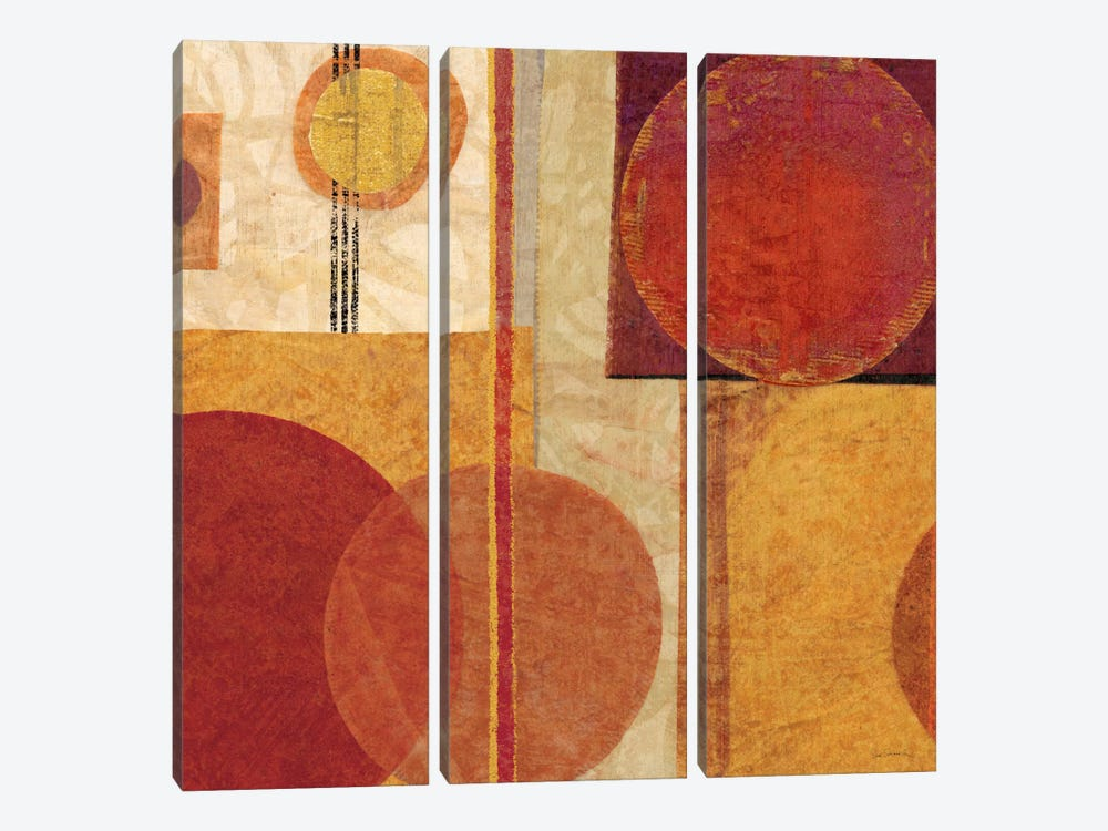 Geo Tea I by Sue Schlabach 3-piece Canvas Artwork
