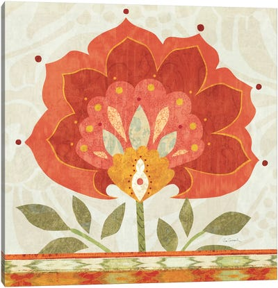 Ikat Bloom I Canvas Art Print
