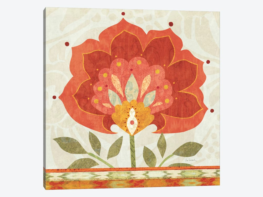 Ikat Bloom I 1-piece Canvas Print