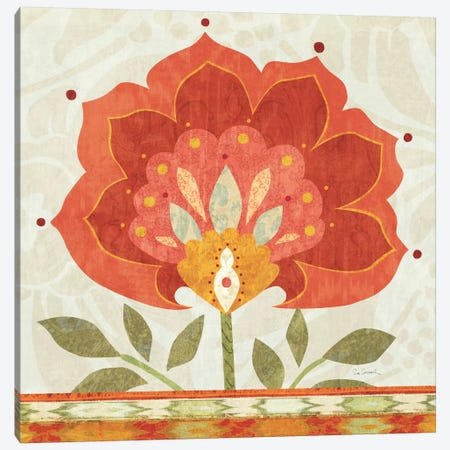Ikat Bloom I Canvas Print #WAC1813} by Sue Schlabach Canvas Art