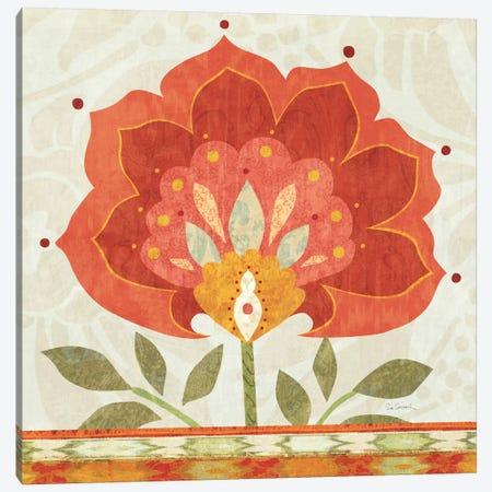 Ikat Bloom I Canvas Print #WAC1813} by Sue Schlabach Canvas Art