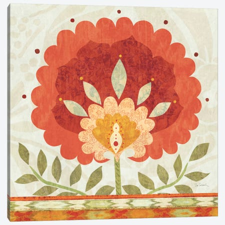 Ikat Bloom II Canvas Print #WAC1814} by Sue Schlabach Canvas Print