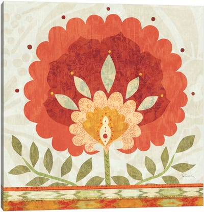 Ikat Bloom II Canvas Art Print