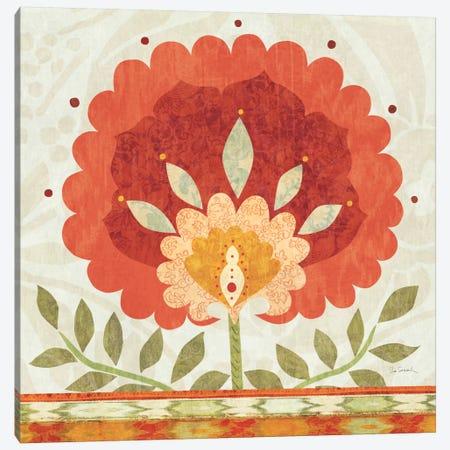 Ikat Bloom II Canvas Print #WAC1814} by Sue Schlabach Canvas Print