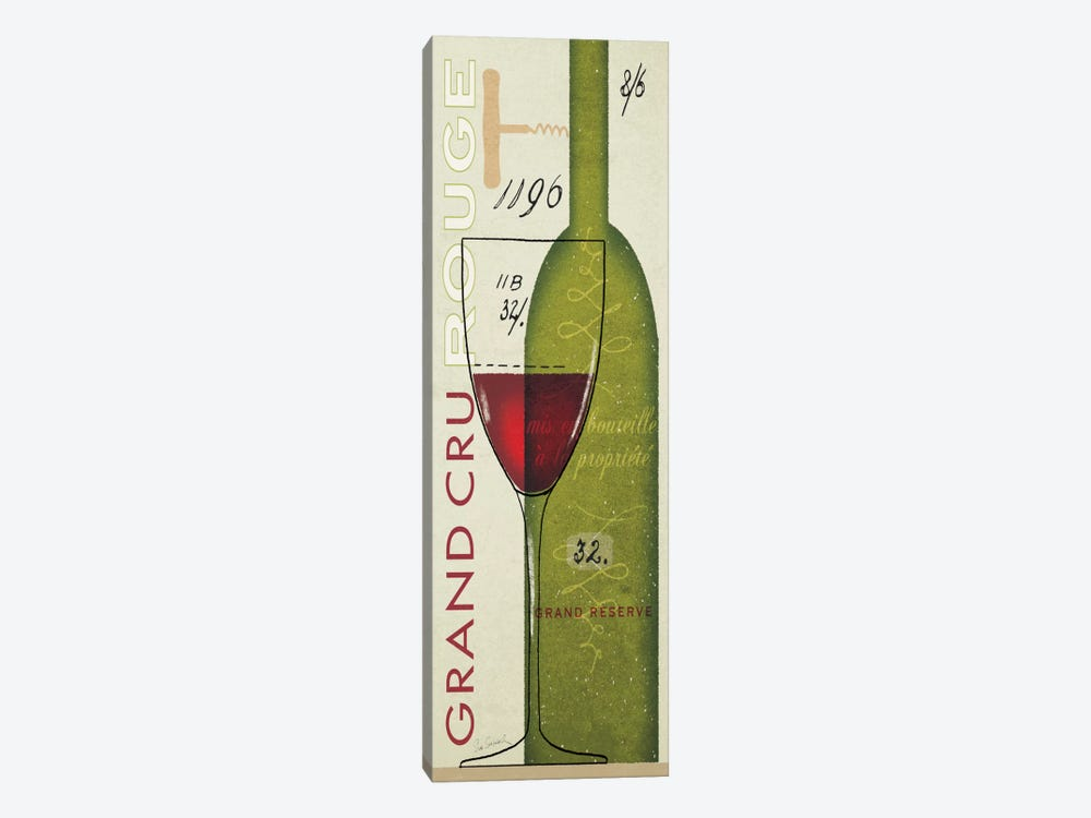 Grand Cru Rouge 1-piece Canvas Wall Art