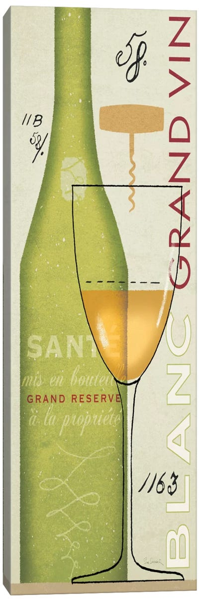 Grand Vin Blanc Canvas Art Print