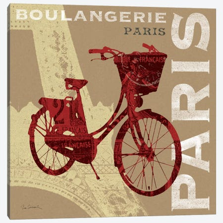 Cycling in Paris Canvas Print #WAC1825} by Sue Schlabach Canvas Artwork