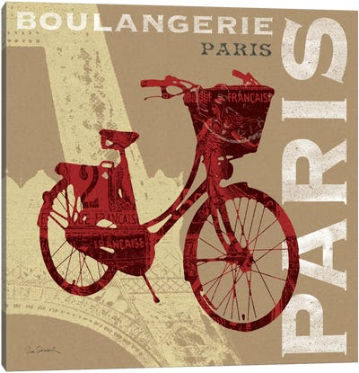 Cycling in Paris Canvas Art Print