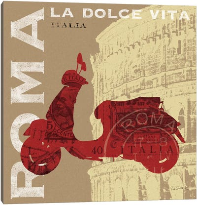 Motoring in Rome Canvas Art Print