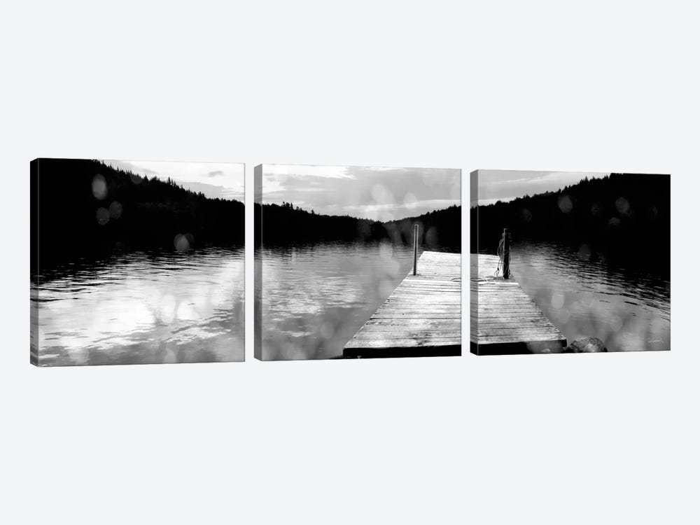 Twilight Dock 3-piece Canvas Print