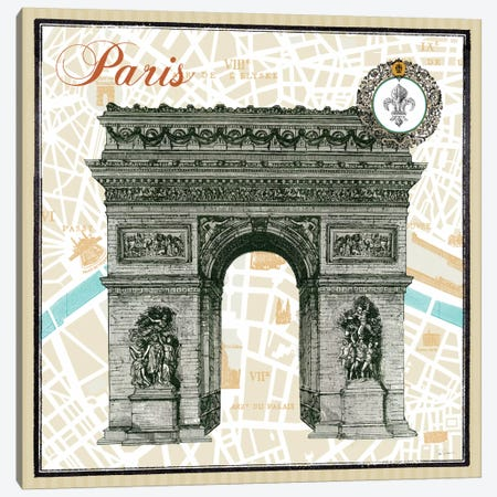 Monuments des Paris Arc  Canvas Print #WAC1847} by Sue Schlabach Canvas Wall Art