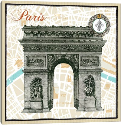 Monuments des Paris Arc  Canvas Print #WAC1847